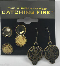 NECA The Hunger Games Catching Fire Peeta Earrings, Set of 3 From the Hit Sequel