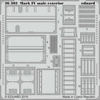 EDUARD 1/35 PE EXTERIOR DETAIL SET for TAMIYA WWI BRITISH TANK Mk.IV MALE #30057
