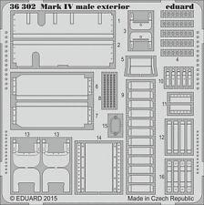 EDUARD 1/35 PE EXTERIOR DETAIL SET for TAMIYA WWI BRITISH TANK Mk.IV MALE #30057
