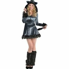Sexy Howling Hottie Wolf Womans Costume Adult Medium 6-8 Fancy Hooded Dress