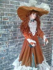 "Gorgeous 42"" Rustie Porcelain Doll"