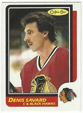 1986-87 OPC HOCKEY #7 DENIS SAVARD - EX-/EX