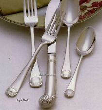 ROYAL SHELL Williamsburg Reed Barton Lenox 40pc Srvs 8 Stainless Flatware Set