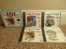101 Sing-A-Longs Songs For Kids 4 CD Disc Set Lyrics Included