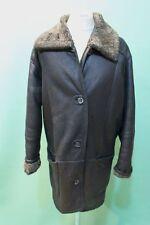 Edler Lamm Fell Mantel Gr 52/L  schwarz Herren vintage Zaren vintage shearling*