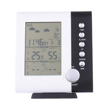 Thermometer Hygrometer Wireless Weather Station Humidity Barometer Alarm Clock