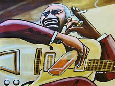 BIG BOY CRUDUP PRINT poster delta blues archtop guitar look on yonder's wall cd