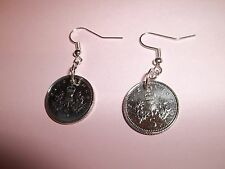 5 PENCE COIN DROP EAR RINGS, 1999,  17th BIRTHDAY
