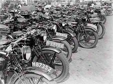 Photo vintage vieux transport motos motos grand imprimé POSTER D'ART lf1709