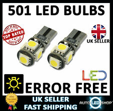 AUDI A6 TT Q7 ERROR FREE CANBUS SMD LED XENON HID WHITE W5W 501 SIDE LIGHT BULBS