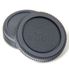 Body Cap & Rear Lens Cap Set for Olympus Manual SLR OM Mount 4/3 E620 E520 E510