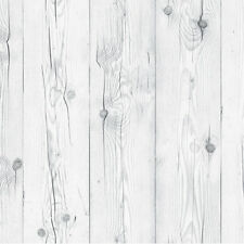 White Gray Wood Wallpaper Self Adhesive Decorative Contact Paper Wall Sticker