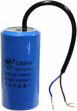 HIGH QUALITY 70uF MFD Run Capacitor 450Volt Motor Round 50/60hz