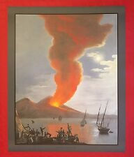 DELLA GATTA - VESUVIUS ERUPTION FINE ART COLOR PRINT REPLICA of ORIGINAL GOUACHE