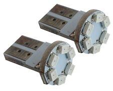 2x ampoule T10 W5W 12V 6LED SMD rouge veilleuses  éclairage intérieur plafonnier