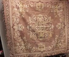 """Romantic Faded French Victorian (1870) Jacquard Woven """"Throw"""" Or Panel Textile"""