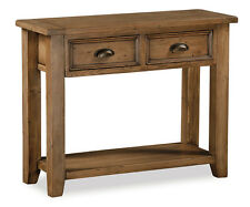 Feock Pine Console Table / Reclaimed Pine Large Hallway Table