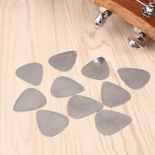10Pcs Cool Stainless Steel Picks Plectrums for Electric Guitar Bass Supplies
