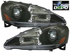 05-06 Acura RSX DC5 Black Housing Projector Headlight DEPO Pair