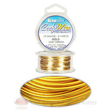 4 Yds Gold 18GA Round Craft Wire Jewelry Beading Wrapping Jump Rings