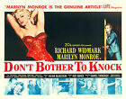 """DON'T BOTHER TO KNOCK"" MARILYN MONROE .Classic Movie Poster A1A2A3A4 Sizes"