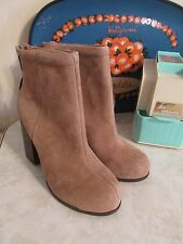 JEFFREY CAMPBELL BEIGE RUMBLE SUEDE ANKLE BOOTIES BOOTS  HEELS WOMENS US 10