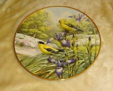 Lenox plate Four Seasons Finches in Spring 24K gold rim