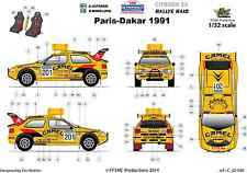 [FFSMC Productions] Decals 1/32 Citroën ZX Vatanen-Berglund #201 Paris-Dakar 91