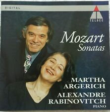 ARGERICH RABINOVITCH MOZART SONATAS TELDEC DIGITAL CD GERMANY