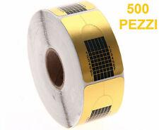 500 PZ x CARTINE ORO RICOSTRUZIONE UNGHIE GEL UV NAIL ART ALLUNGAMENTO ROTOLO