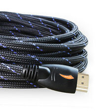 Premium Protective Nylon Braided HDMI to HDMI Cable 30 feet Ethernet,3D,Audio
