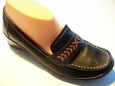 Naturalizer Vanish Brown Leather Wedge Flats Loafers Shoe Size 8 N Narrow cLOSeT