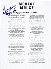 Isaac Brock Signed Autographed Lampshades on Fire Lyric Sheet Modest Mouse