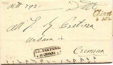 P3884    Brescia, Chiari per Cremona 1856