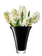 LSA Vase Fondu Flare- Noir H18cm