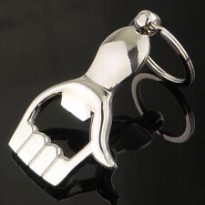 New Arrival Silver Metal Palm Hand Shapes Beer Bottle Opener Key Chains hot