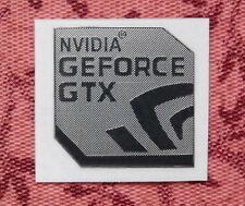 Nvidia GeForce GTX Silver Chrome Sticker 17.5 x 17.5mm Same Design As Nvidia OEM