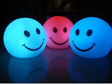 Cut Battery Power Smiling Face Color Change LED Night Light Lamp Party Xmas Deco