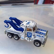 MATCHBOX PETERBILT 1981  POLICE TOW TRUCK listing others...