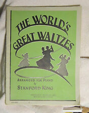 The World's Greatest Waltzes piano sheet music Stanford King 1946