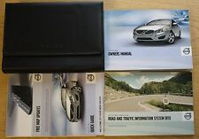 VOLVO V60 HANDBOOK OWNERS MANUAL WITH RTI WALLET 2010 - 2013 PACK 10920