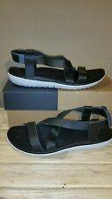 TEVA Terra Float Livia Lux Black Leather women's sandals size 8.5US