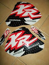 HONDA XR 250 400  96-05 oem LOGO GRAPHICS TANK DECAL KIT SET STICKERS BLACKBIRD