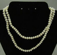 "32"" Strand of White Pearls"
