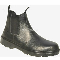 """WORKFORCE"" Steel Toe Cap Chelsea / Market / Dealer  Safety Boots.  WF17-P"