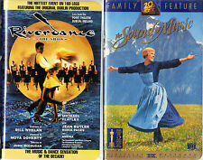 Riverdance - The Show (VHS, 1996, Clam Shell Case) & The Sound Of Music (VHS)