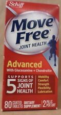 SCHIFF MOVE FREE ADVANCED With Glucosamine and Chondroitin 80 Tablet Exp 09/17 +