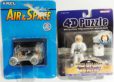 SPACE : LUNAR ROVER - APOLLO 15 - CARDED DIE CAST MODEL & ASTRONAUT 4D PUZZLE
