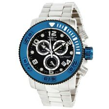 New Men's Invicta 12534 Sea Hunter Swiss Chrono Black Dial Stainless Steel Watch
