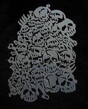 Aerografía galería de símbolos a4 004 cráneo galería de símbolos extremadamente